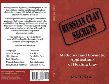 Cover designed for an alternative healing guidebook on therapeutic uses of clay