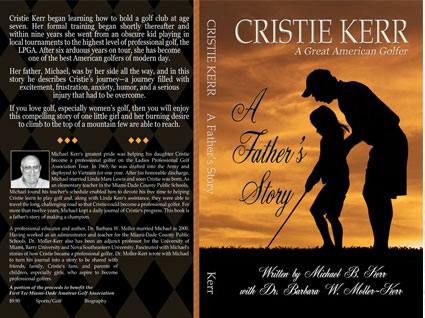 Cover designed for a biography of an LPGA champion